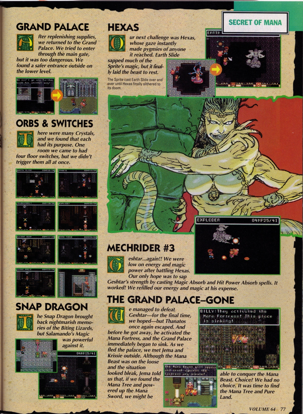 Nintendo Power Volume 64 Mortal Kombat 2 Cover w/ Donkey Kong Country Poster